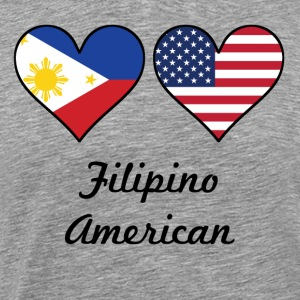Filipino American Flag Hearts - Men's Premium T-Shirt