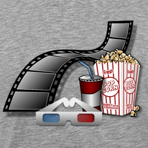 3D Movie Cinema - Men's Premium T-Shirt