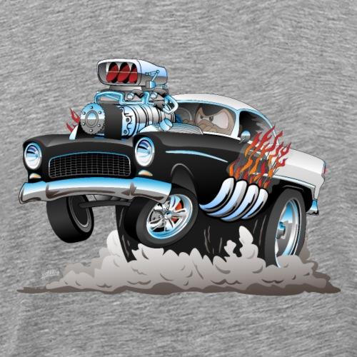 Classic '55 Hot Rod Funny Car Cartoon - Men's Premium T-Shirt