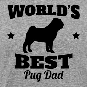 World's Best Pug Dad - Men's Premium T-Shirt
