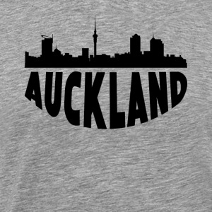 Auckland New Zealand Cityscape Skyline - Men's Premium T-Shirt
