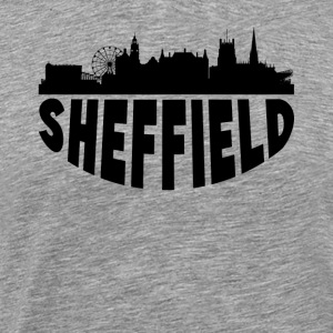 Sheffield England Cityscape Skyline - Men's Premium T-Shirt