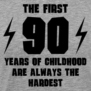 The First 90 Years Of Childhood - Men's Premium T-Shirt