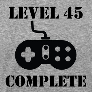 Level 45 Complete 45th Birthday - Men's Premium T-Shirt