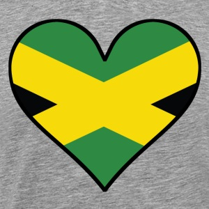 Jamaican Flag Heart - Men's Premium T-Shirt