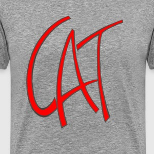 Dave The Cat Red Cat Logo - Men's Premium T-Shirt
