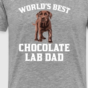 World s best chocholate lab dad - Men's Premium T-Shirt