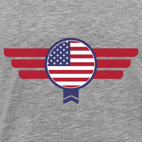 USA America Badge Military Flag - Men's Premium T-Shirt