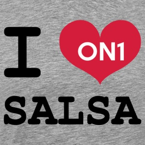 I Love Salsa On 1 - Men's Premium T-Shirt