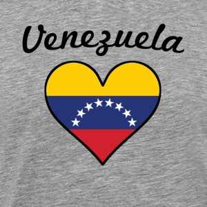 Venezuela Flag Heart - Men's Premium T-Shirt