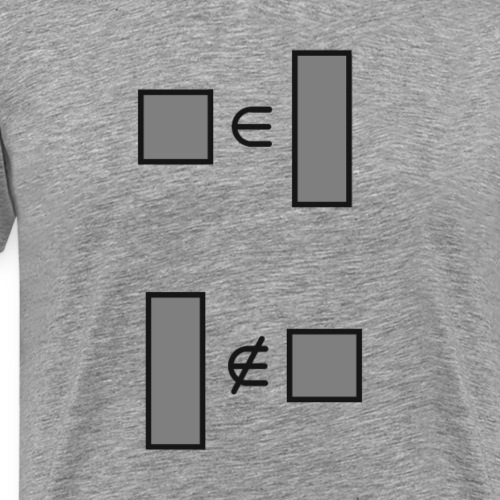 squares are rectangles - Men's Premium T-Shirt