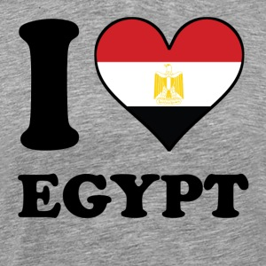 I Love Egypt Egyptian Flag Heart - Men's Premium T-Shirt