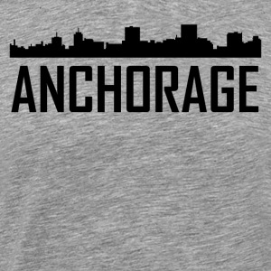 Anchorage Alaska City Skyline - Men's Premium T-Shirt