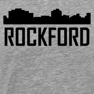 Rockford Illinois City Skyline - Men's Premium T-Shirt