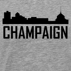 Champaign Illinois City Skyline - Men's Premium T-Shirt