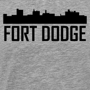 Fort Dodge Iowa City Skyline - Men's Premium T-Shirt