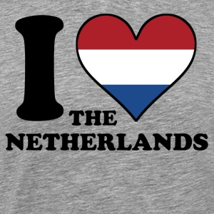 I Love the Netherlands Dutch Flag Heart - Men's Premium T-Shirt