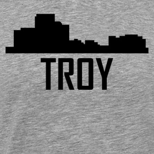 Troy Michigan City Skyline - Men's Premium T-Shirt