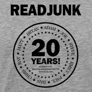 ReadJunk.com 20th Anniversary (black) - Men's Premium T-Shirt