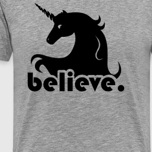 Believe In Unicorns - Men's Premium T-Shirt