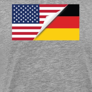Half American Half German Flag - Men's Premium T-Shirt