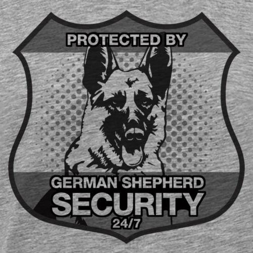 Protected By German Shepherd Security - Men's Premium T-Shirt