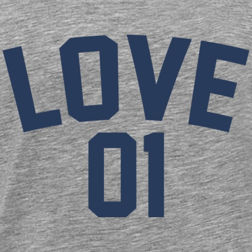 Love 01 (Blue Letters) - Men's Premium T-Shirt