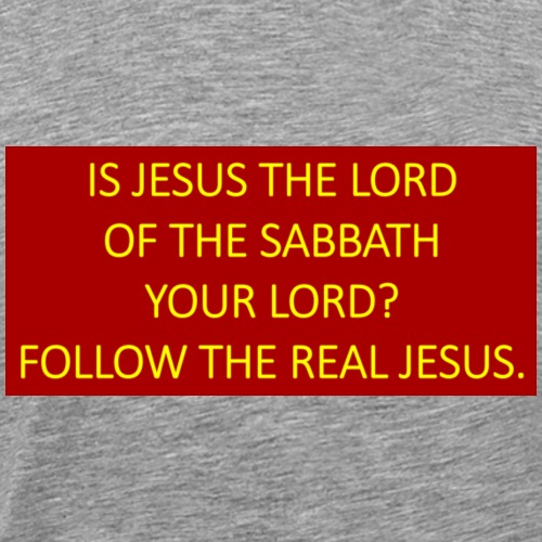 Is Jesus the Lord of the Sabbath your Lord? - Men's Premium T-Shirt