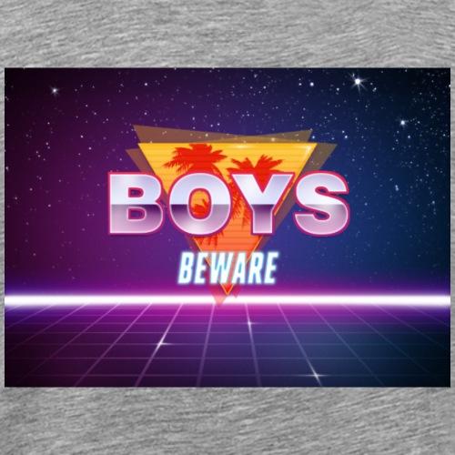Boys Beware - RETRO - Men's Premium T-Shirt
