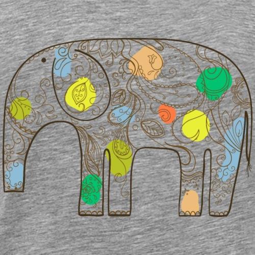 Abstract animal elephant wildlife vector image - Men's Premium T-Shirt