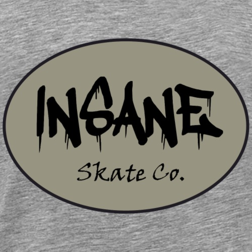 Insane Skate Co. Oval Design - Men's Premium T-Shirt
