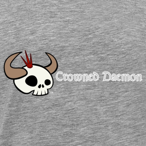 Crowned Daemon Studios Logo - White - Men's Premium T-Shirt
