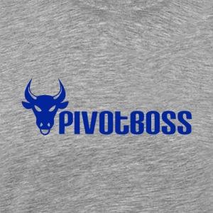 PivotBoss Cobalt Logo - Men's Premium T-Shirt