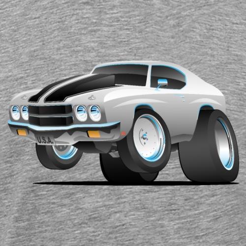 Classic 70's American Muscle Car Cartoon - Men's Premium T-Shirt