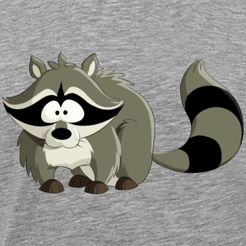 Cartoon animal raccoon wildlife cool vector image - Men's Premium T-Shirt