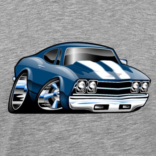 69 Muscle Car Cartoon - Men's Premium T-Shirt