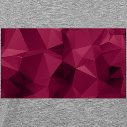 Geo Tee (Maroon) - Men's Premium T-Shirt