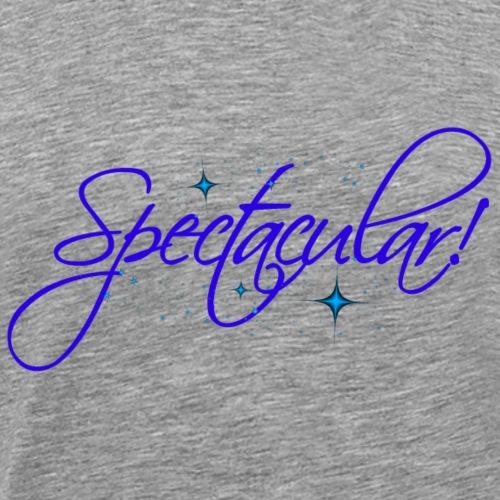 spectacular_blue_star low neck pink - Men's Premium T-Shirt