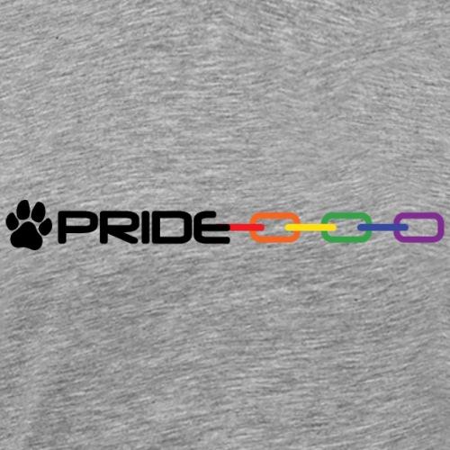 Pride Chain Puppy Play Pup Paw Rainbow Flag Gay - Men's Premium T-Shirt