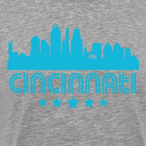 Retro Cincinnati Skyline - Men's Premium T-Shirt
