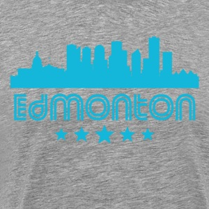 Retro Edmonton Skyline - Men's Premium T-Shirt