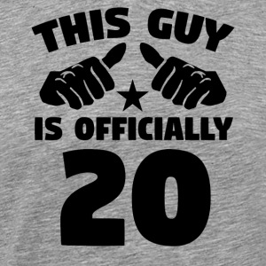 This Guy Is Officially 20 Years Old 20th Birthday - Men's Premium T-Shirt
