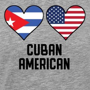 Cuban American Heart Flags - Men's Premium T-Shirt