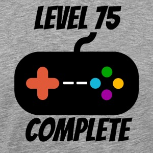 Level 75 Complete 75th Birthday - Men's Premium T-Shirt