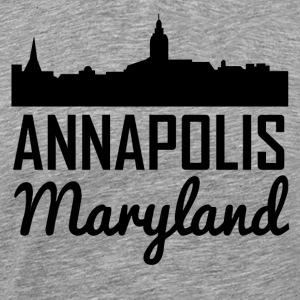 Annapolis Maryland Skyline - Men's Premium T-Shirt