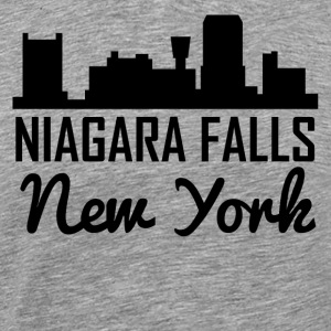 Niagara Falls New York Skyline - Men's Premium T-Shirt