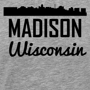 Madison Wisconsin Skyline - Men's Premium T-Shirt
