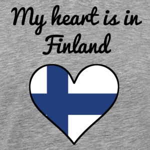 My Heart Is In Finland - Men's Premium T-Shirt