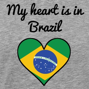 My Heart Is In Brazil - Men's Premium T-Shirt