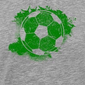 Soccer Paint Splatter - Men's Premium T-Shirt